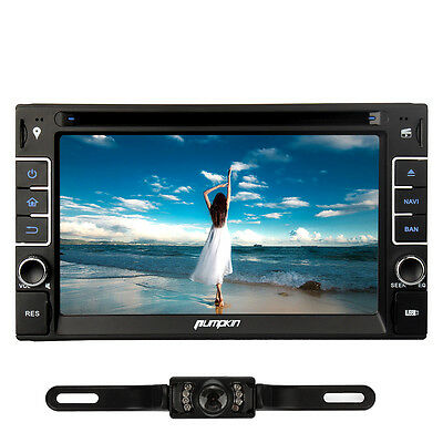 """6.2"""" Double 2 Din Car DVD Player Radio Stereo Touch Screen GPS BT Reverse Camera"""