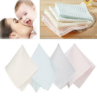 Soft Infant Baby Face Washers Hand Towels Cotton Wipe Wash Cloth Kids Bath Towel