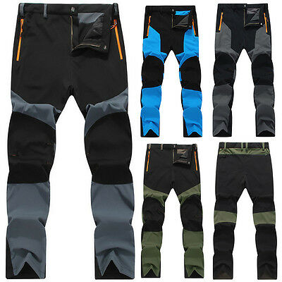 Men's Outdoor Overalls Waterproof Travel Pants Camping Hiking Climbing Trousers