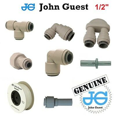 "1/2"" John Guest Pushfit Pneumatic Fittings For Water Air Vacuum Filter Pump Pipe"