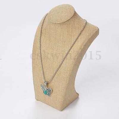 Display Stand Cotton Necklace Pendant Jewelry Neck Bust Holder Rack Showcase