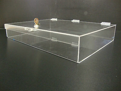 "Acrylic Countertop Display Case 19"" x 13"" x 3"" Locking Security Show Case Safe B"
