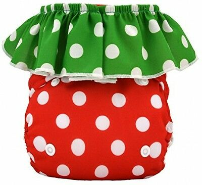 Alva Baby Strawberry Pocket Reuseable Washable Cloth Diaper Nappy + 2 Inserts