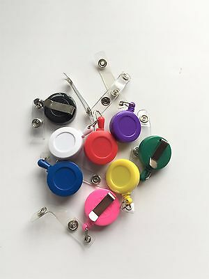Retractable badge or ID Card holder in five colours*