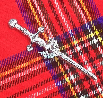 "New Scottish Thistle Kilt Pins Chrome Finish 4""/Highland Kilt Pins/Kilt Pins"