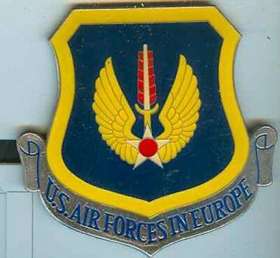 USA:USAF in Europe.Plakette.mehrfarbig.85 x 90 mm