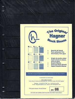 Hagner Original Stock Sheets Pack Of 10  8 Rows  Single Side