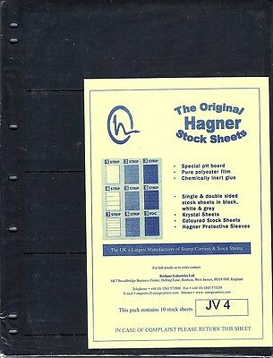 Hagner Original Stock Sheets Pack Of 10  4 Rows  Single Side