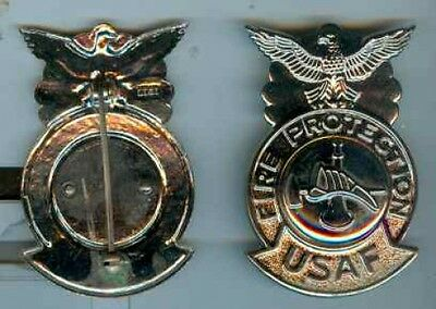 USA:Brustabzeichen:Fire Protection USAF Metall.65 mm 1 Stueck