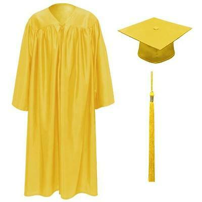 Children's Graduation Gowns Age 3-5  Yellow Inc Hat, Gown Tassel and Year Charm