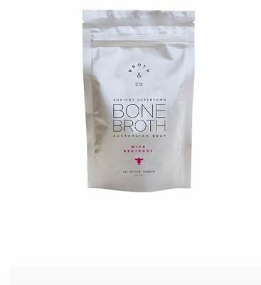 BROTH & CO Australian Beef Bone Broth with Beetroot Powder Pouch 100g powder