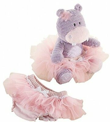 Baby Aspen Plush Hippo Gift Set, Lady Lulu And Baby's Tutu, Purple/Pink