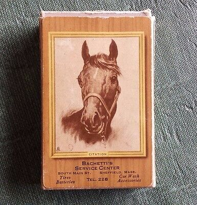 """Vintage Remembrance Playing Cards """"Citation"""" Advertising Full Deck"""