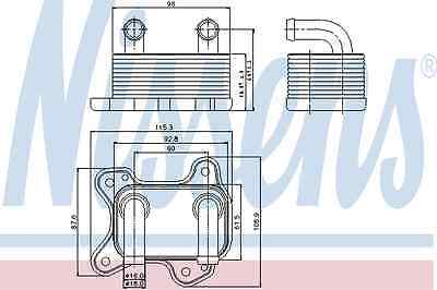 Nissens Oil Cooler 90682 Fit with Vauxhall Astra