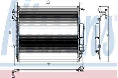 Nissens Condenser 94839 Fit with Land Rover Discovery