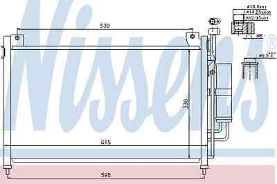 Nissens Condenser 940033 Fit with Mazda 2 Series