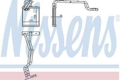 Nissens Heat Exchanger 71772 Fit with Ford Fiesta