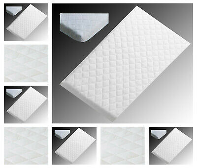 NURSERY BABY QUILTED BREATHABLE CRADLE/PRAM /COT/CRIB MATTRESS SIZE 90 x 40 CM