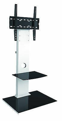 Universal Cantilever Stylish Glass and Wood TV Stand Mount For LCD LED Plasma 3D