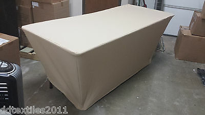 6ft Gold Spandex Buffet Table Covers Wedding Event Dj Craft