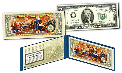 1776-2016 DECLARATION OF INDEPENDENCE * 240th ANNIVERSARY * Genuine U.S. $2 Bill