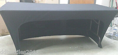 6ft openback spandex buffet table covers,wedding,event,DJ,craft/tradeshows,party