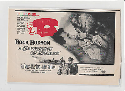 1x Magazine Ad Movie A Gathering Of Eagles - Rock Hudson