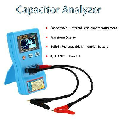 2 in 1 Digital Auto Range ESR Meter Capacitance Tester With SMD Test Clips U9R4