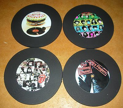 Lic THE ROLLING STONES - SET OF 4 COASTERS RRP $9.95
