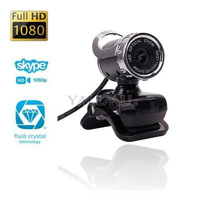 360°Full HD 12MP 1080P Webcam Network Camera with Built-in Mic for PC Desktop HK