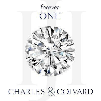 1.20 dwt Round Cut Charles and Colvard Forever One Moissanite Loose 7 mm White