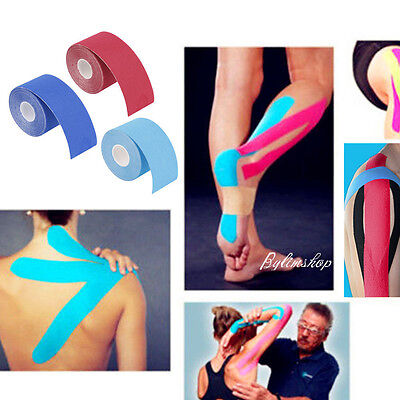 5M x 5cm Kinesiology Sport Muscle Tape Elastic Physio Therapeutic Roll UK NEW BM