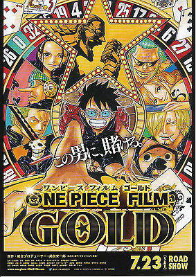 ONE PIECE FILM GOLD Japanese Movie Flyer mini poster Japanese Anime ship w/ TN