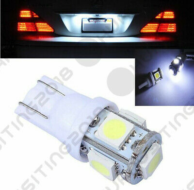 2PCS HID White T10 Wedge 5-SMD 5050 LED Light bulbs W5W 501 2825 158 192 168 194