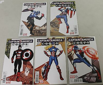 Marvel: Captain America Corps (2011) #1-5 COMPLETE SET