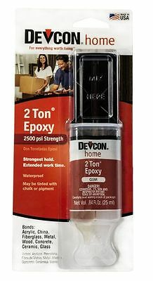 DEVCON 31345 S31 2 TON CLEAR PLASTIC WELDER EPOXY GLUE WATERPROOF ADHESIVE Diy