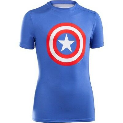 Under Armour Transform Yourself Fitted Enfants Seconde Peau - Captain America