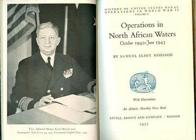 Operations in North African Waters Oct.421-June 43