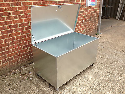 Galvanised Steel Bin Rodent proof rubbish storage recycling container  (lrb)