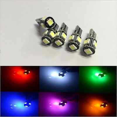 10X CANBUS ERROR FREE Yellow T10 5SMD 5050 LED Interior Light Bulbs 194 168