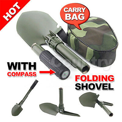 Hiking Garden Camping Spade Survival Multi-Tools Foldable Tool Folding Shovel AU