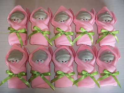 10 Pink Green Little Swaddlers Dirty Diaper Game Baby Shower Favor Decorations