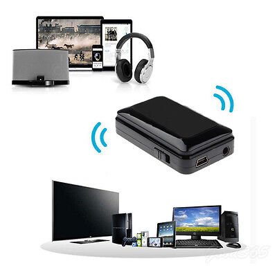Wireless Bluetooth Music A2DP Stereo HiFi Audio Dongle Adapter Receiver 3.5mm OK