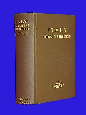 Antique 1900 Italy Through Stereoscope Book Stereoview Underwood 100 Card Set