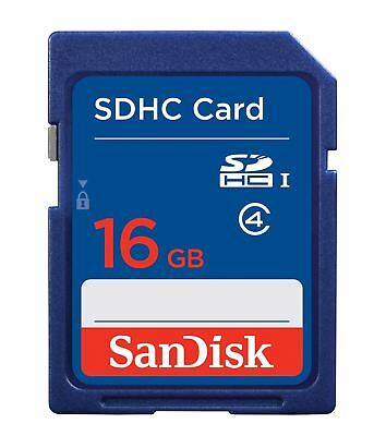 SanDisk 16GB SD SDHC Memory Card Class 4 - 16 GB for Digital Cameras