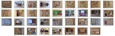 1/12th Scale Dolls House Items Furniture Fixtures and Accessories MultiListing