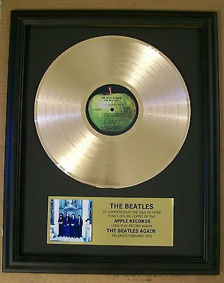 The Beatles Again Hey Jude Gold LP Record + Mini Album Not a RIAA Award + Plaque