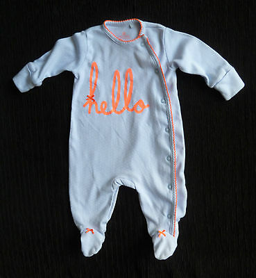 Baby clothes GIRL 0-3m NEXT blue/white spot babygrow hello SEE SHOP COMBINE POST