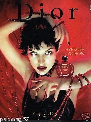 Publicité advertising 1998 Parfum Hypnotic Poison Christian Dior
