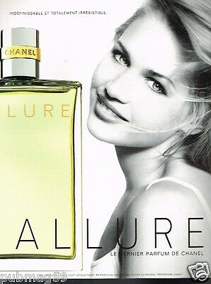 Publicité advertising 1998 Parfum Allure par Chanel